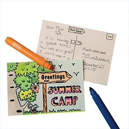 - S&S Worldwide Velvet Art Summer Camp Postcard (Pack of 48)