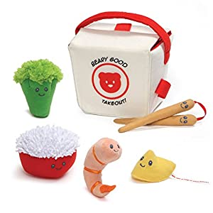 Baby GUND Takeout Food Stuffed Plush Playset