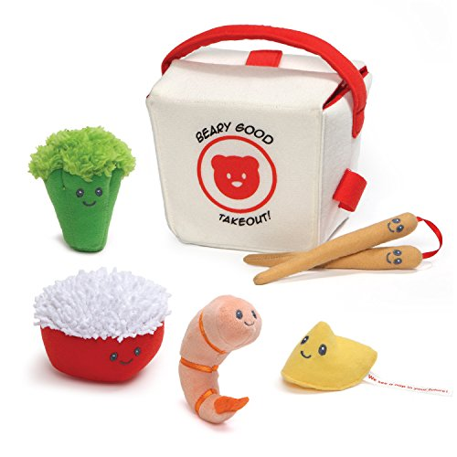 Baby GUND Takeout Food Stuffed Plush Playset -