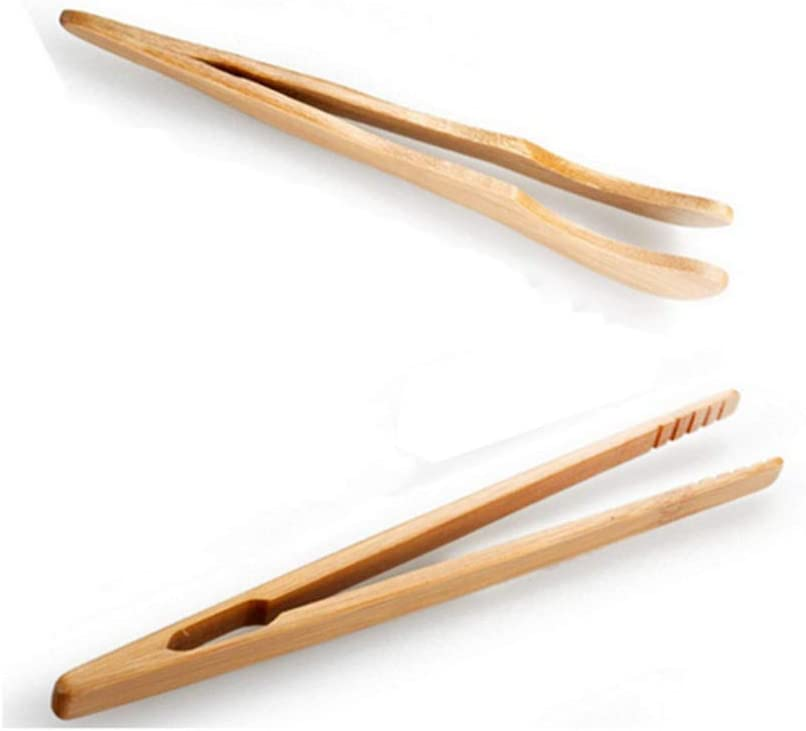 Fruits Yevison The Bamboo Toast Tongs Wooden Toaster Kitchen Tongs fruit clip for Toast Bread /& Pickles Adorable Quality and Practical