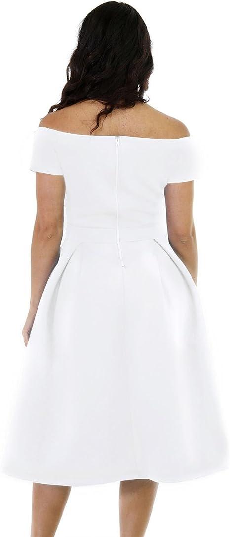 Women's Plus Size Vintage Cocktail Wedding Midi Dress