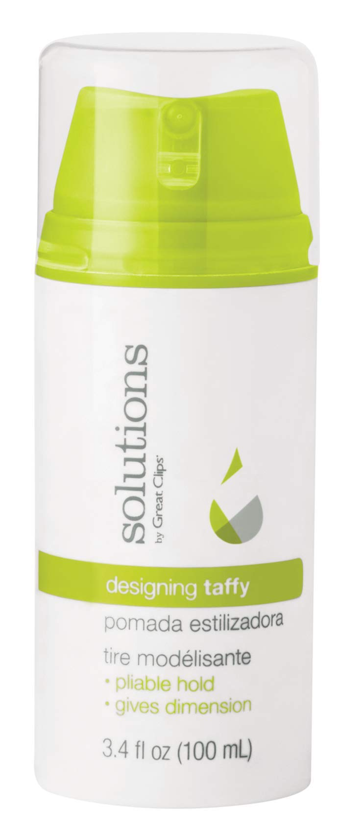 Solutions by Great Clips Designing Taffy 3.4oz   Styling Cream   Pliable Hold with High Shine   Works in Dry or Wet Hair by GREAT CLIPS