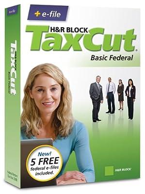 H&R Block TaxCut 2008 Basic Federal + e-file