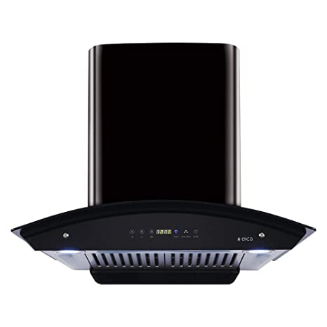 Elica 60 cm 1200 m3/hr Auto Clean Chimney with Free Installation Kit (WD HAC TOUCH BF 60 BK, 2 Baffle Filters, Touch Control, Black (GLOSSY FINISH))