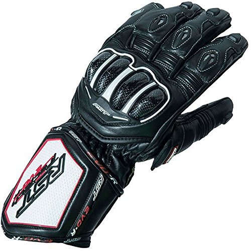 Rst Motorcycle - RST 2092 Tractech Evo R Race Sports Leather Aramid Motorcycle Gloves - Black XL