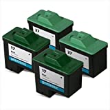 Printronic Remanufactured Ink Cartridge Replacement for Lexmark 17 Lexmark 27 4 Pack (2 Black, 2 Color), Office Central