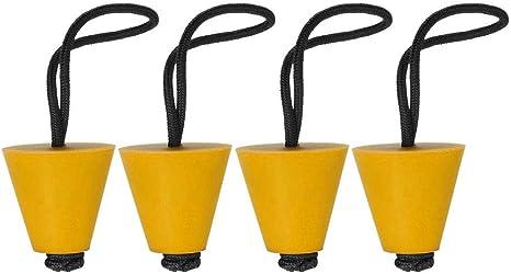 4PCS Silicone Kayak Scupper Plug Kit Universal Canoe Drain Holes Stopper Bung