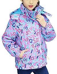 BESBOMIG Girls Winter 3 in 1 Fleece Ski Snowboard Jacket Snowboard Windbreaker