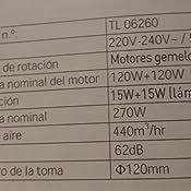 Orbegozo TL 06260 BL-Campana telescópica, 2 Motores de 120 W, Color Blanco: Amazon.es: Hogar