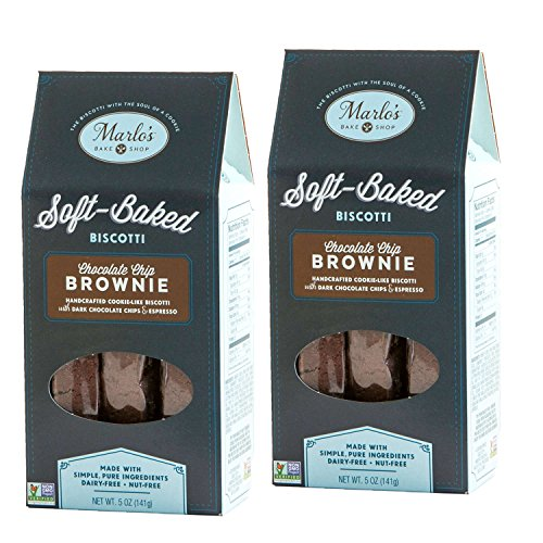 - Marlo's Bakeshop | Individually Wrapped Biscotti, Dark Chocolate Espresso Brownie Biscotti, Gourmet Cookies, Dairy-Free, Soy-Free, Nut-Free, Non-GMO, Kosher (10 Servings)