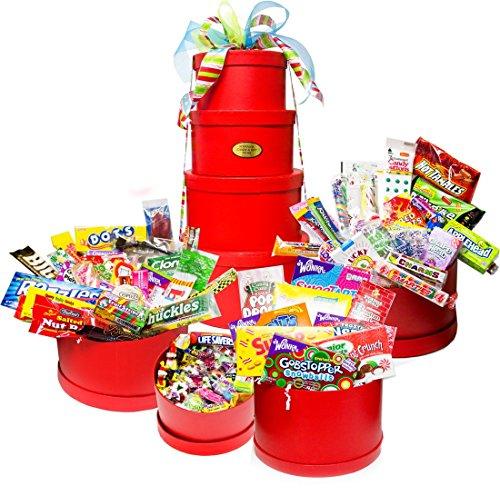 Red Mega Holiday Nostalgic Candy Gift Tower