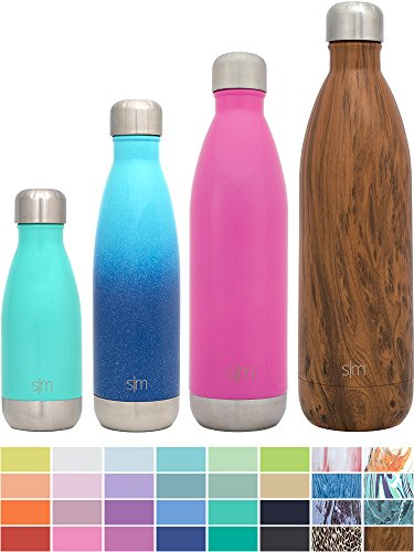 Simple Modern Stainless Steel Vacuum Insulated Double-Walled Wave Bottle, 25oz - Bubble Gum Pink