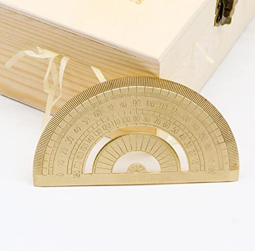 a portata di mano di laurea in ottone geometria goniometro matematica strumento di rame chiaro righello cancelleria per studenti e bambini