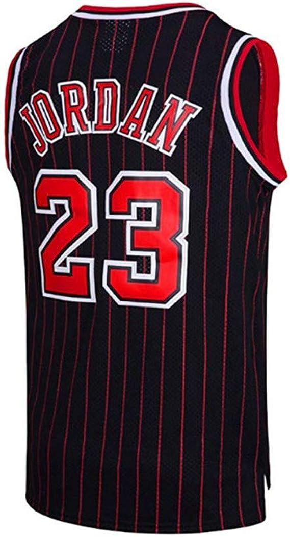 Camiseta De Baloncesto para Hombre El Mejor Jugador De Baloncesto Chicago Bulls Michael Jordan Swingman Camisa De Manga Corta Ropa para Jóvenes Sudadera Raya Negra: Amazon.es: Ropa y accesorios