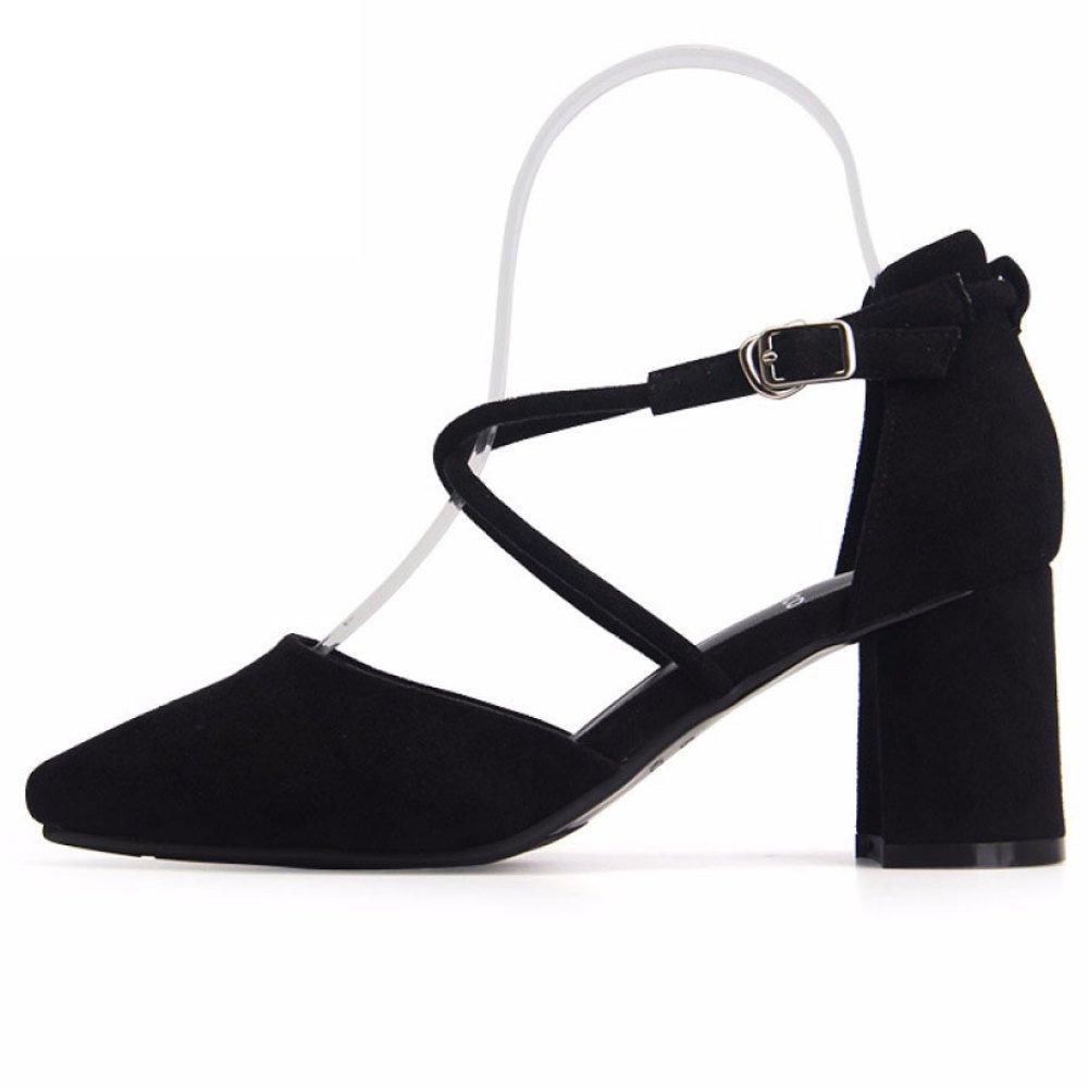 3d669d76c Tacones Altos De Las Mujeres Vendajes Zapatos Acentuados Moda Joker  Vestidos Zapatos De Fiesta De Graduación  Amazon.es  Zapatos y complementos