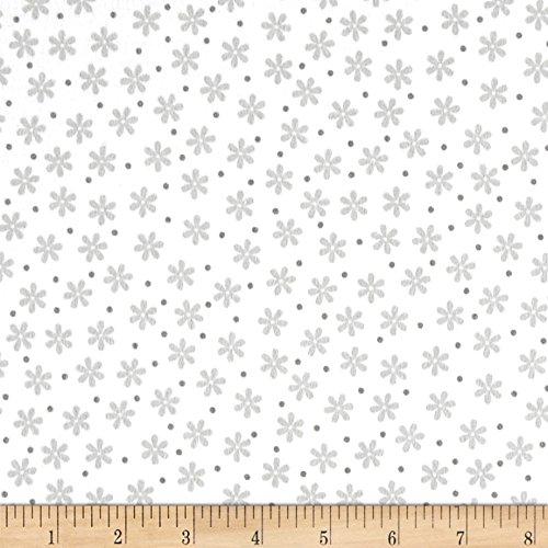 Robert Kaufman Kaufman Cozy Cotton Flannel Daisies White Fabric by The Yard