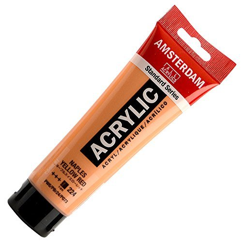 AMSTERDAM ACRYLIC 120ML NAPLES YELLOW RED SINGLE TUBE by Amsterdam