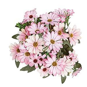 Colorido 1Pc Handmade Artificial Flower,Plastic Cloth Fake Daisy Centerpiece for Home Garden Wedding Party Table Decor 40