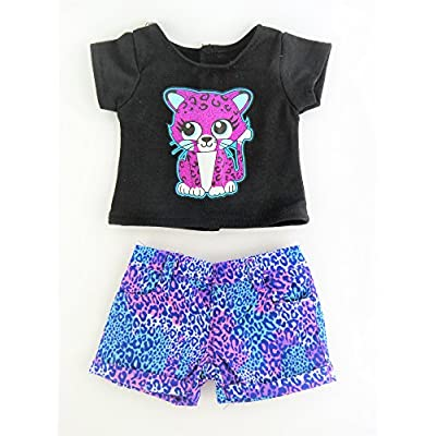 American Fashion World Little Leopard Short Set fits 18 Inch Doll: Toys & Games