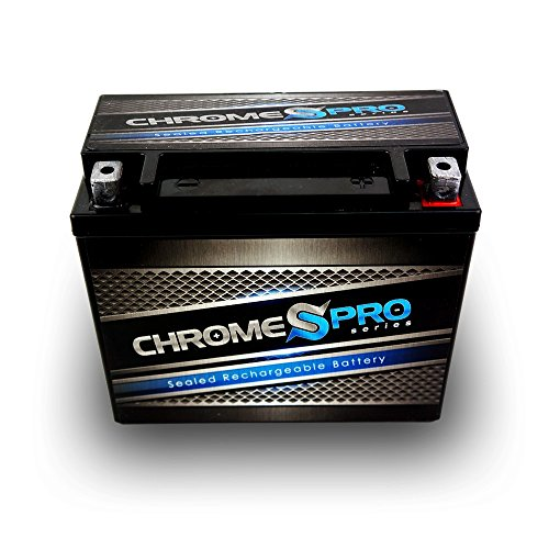 YTX20L-BS High Performance Power Sports Battery by Chrome Pro