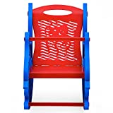Nilkamal Dolphin Rocker Kids Chair (Blue and Red)