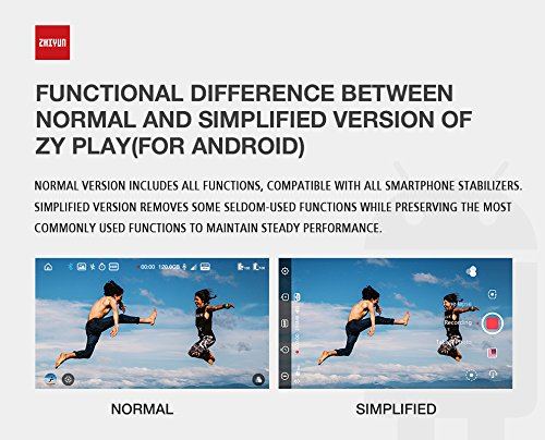 Gimbal Stabilizzatore 3 Assi Zhiyun Smooth 4 Stabilizzatore Gimbal 3 Assi per Smartphone a 210g Colore bianco Gimbal Smartphone Stabilizzatore