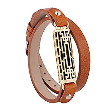 e1afc8d20 for Fitbit Flex 2 Bands Bracelet TenYun Adjustable Replacement Metal Frame  and Genuine Leather Braided Wristbands Metal Clasp Women Small Large Bangle  Style ...
