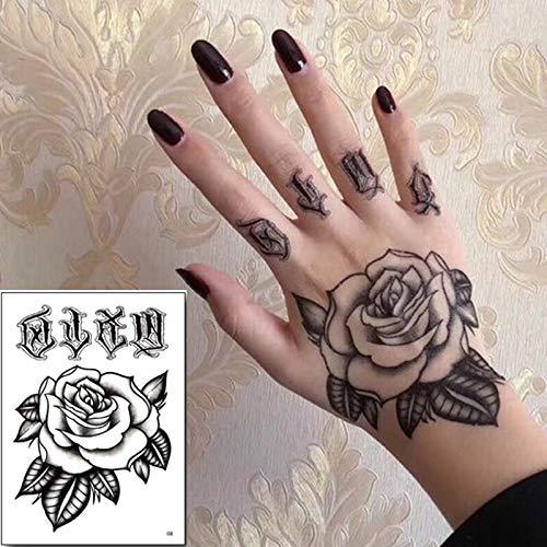tzxdbh 10 unids/Pack Temporal Etiqueta engomada del Tatuaje ...