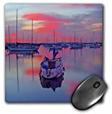 3dRose LLC 8 x 8 x 0.25 Inches San Diego Sailboats Sunrise Mouse Pad (mp_21710_1)
