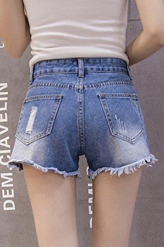 Jeans Breve Blu Boot Ricami Donne Strappato Di Fanvans Cut Pantaloncini Jeans Hzx7qZwA4