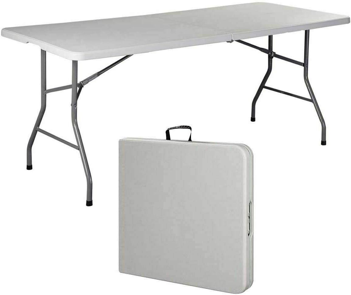 Giantex Folding Table, Off White