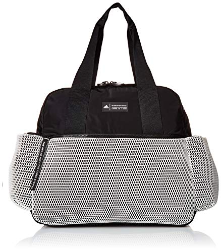 adidas Sport to Street Premium Tote Bag, White/Black/White Mesh, One Size