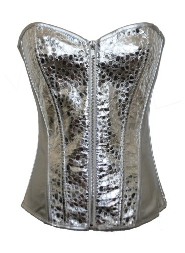 Chicastic Silver Patent Leather Bustier
