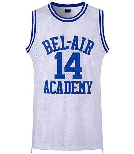 7438eddbba65 JOLISPORT The Fresh Prince of Bel Air Basketball Jersey  14 Will Smith  Academy Jersey S