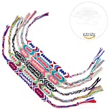 Friendship Handmade Cords 6PCS Multi Color Woven Braid Strand Braided Thread for Hair Ponytail Bracelet Anklet with Clear Rubber Bands by Tidawave