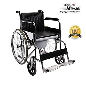9cacf38a464 Buy MEDE-MOVE commode wheelchair foldable Online at Low Prices in ...