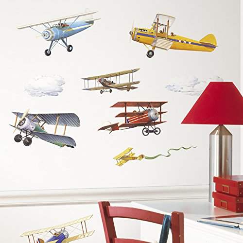 RoomMates RMK1197SCS Vintage Planes Decals product image