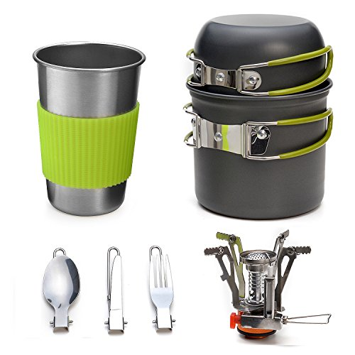 Odoland Cookware Lightweight Stainless Backpacking