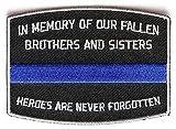 IN MEMORY FALLEN OFFICER POLICE LAW ENFORCEMENT Motorcycle Biker Patch PAT-3772