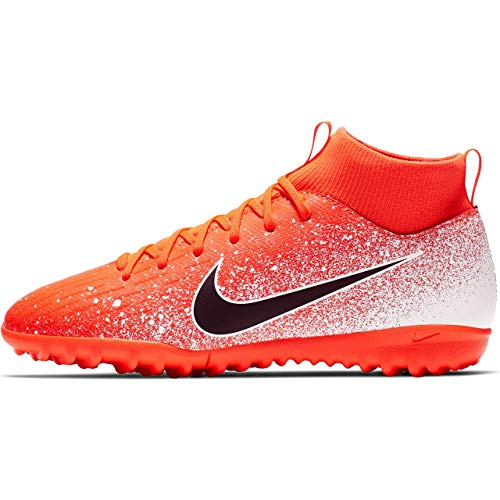 Nike Youth Soccer SuperflyX 6 Academy Turf Shoes (2 Little Kid M US) (Indoor Soccer Shoes For Youth)