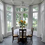dark grey curtains next ChadMade Indoor Outdoor Solid Sheer Curtain Pinch Pleat Grey 100