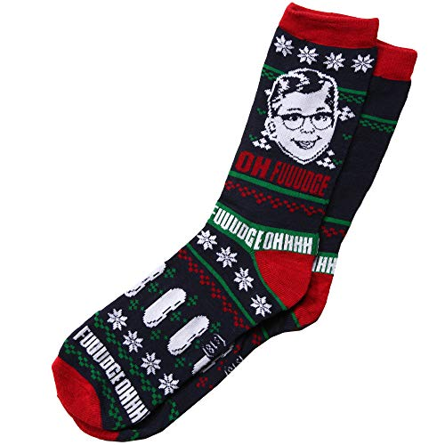 A Christmas Story Hat (A Christmas Story Oh Fudge! Ugly Sweater Adult Crew)