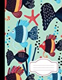 img - for Blue Sea Fish,Composition Notebook: College Wide Ruled Writer's Notebook for School / Teacher / Office / Student: School Notebook, 110 Pages, 8.5