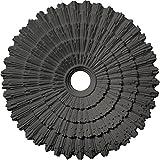 Ekena Millwork CM24ENSGS 24 3/4 OD x 3 1/4 ID x 1 7/8 P Eryn Ceiling Medallion (fits Canopies up to 4''), Steel Gray