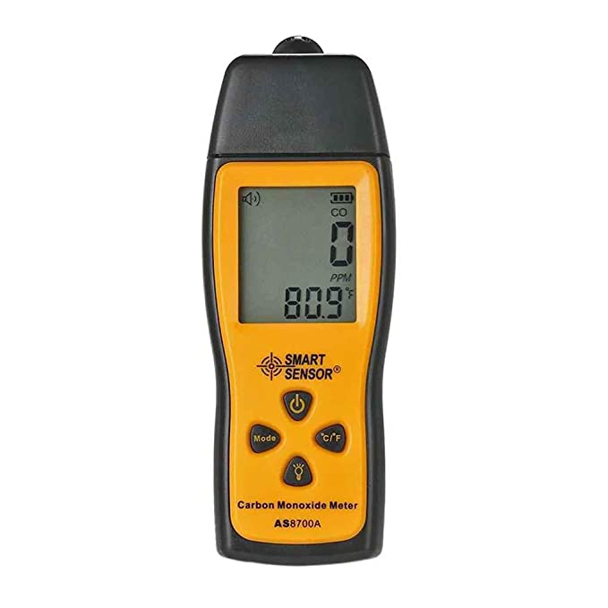 Bodbii SENSOR INTELIGENTE AS8700A portátil monóxido de carbono medidor digital de gran precisión CO del detector de escape del analizador 1000 ppm Rango: ...