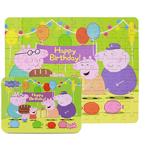 Yale Peppa Pig Kid 100 Piece Jigsaw Puzzle Game for 3-8 Age,Portable Box Pack Toy