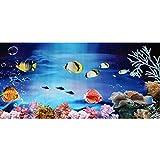Freahap Aquarium Background Decorated Fish Tank Poster Ornaments 60 x 100 cm