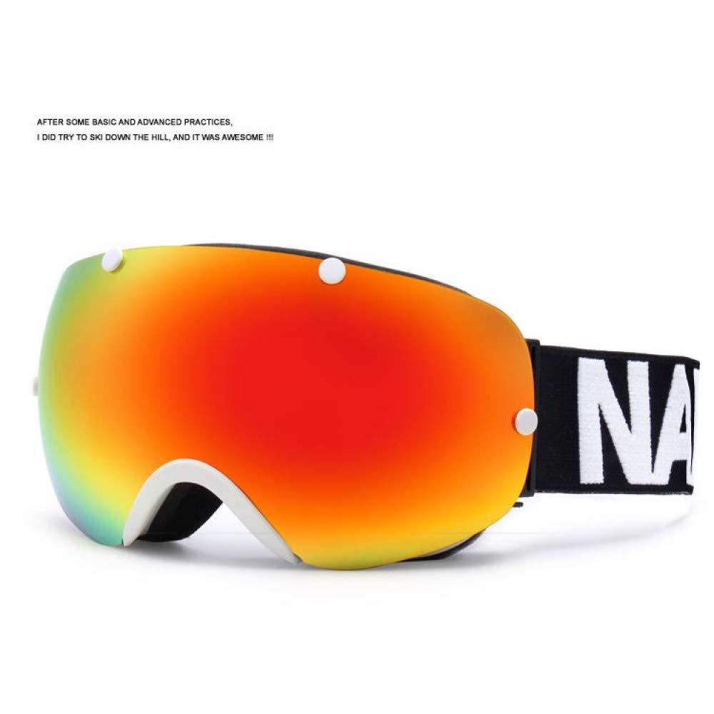 Style 6  LOLIVEVE Ski Lunettes De Snowboard Double Couche Lunettes De Ski Hommes Femmes Sphérique Ski Lunettes Peut Tenir Myopie Lunettes De Neige