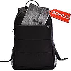 "Slim Laptop Backpack or Lightweight Backpack Fits Up to 15.6"" Computer. Included Bonus Protective Case For iPad Mini and Tablets Up to 10"