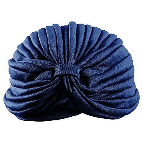 Cancer Hats for Women - Turban Headwrap - Turbans for Hair (Navy) by CoverYourHair